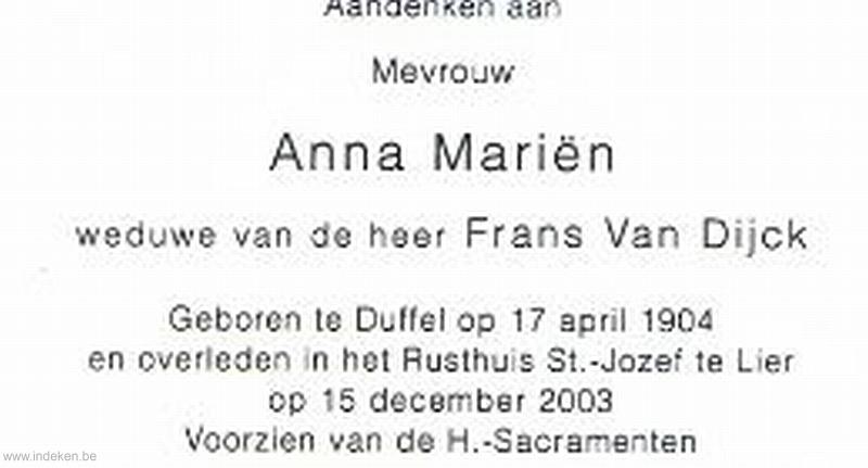 Anna Maria Mariën