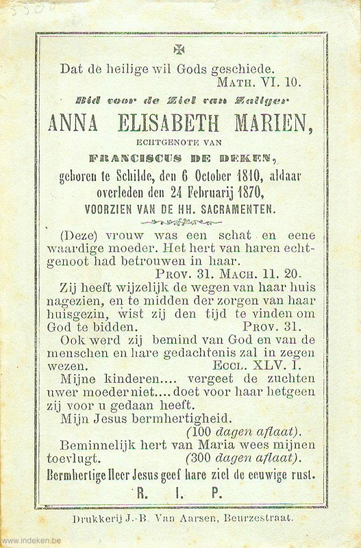 Anna Elisabeth Mariën