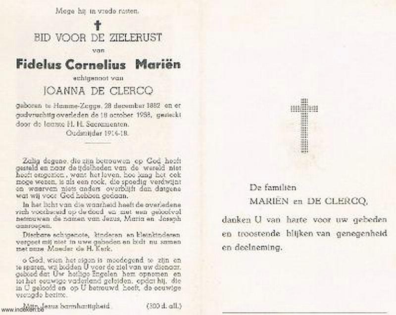 Fidelus Cornelius Mariën