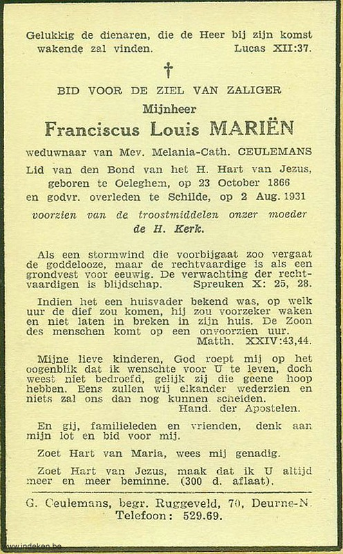 Franciscus Louis Mariën