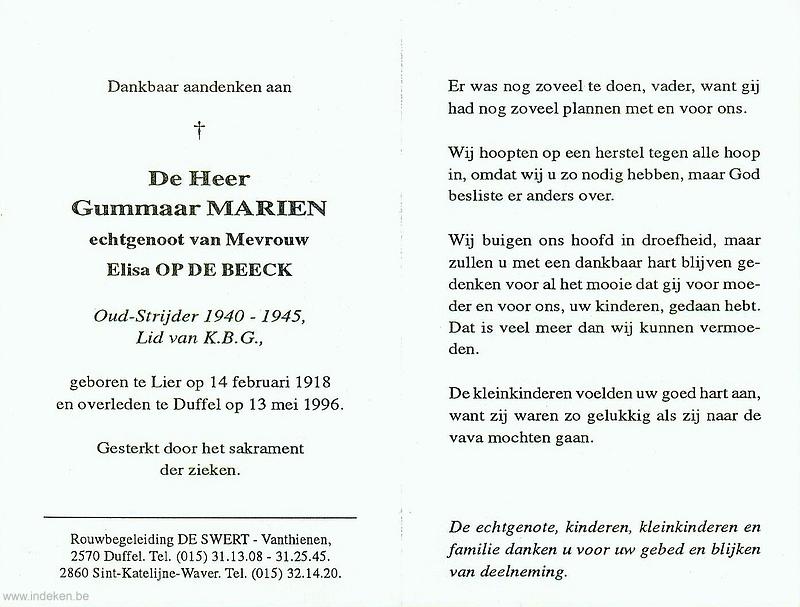 Pieter Gummaar Mariën