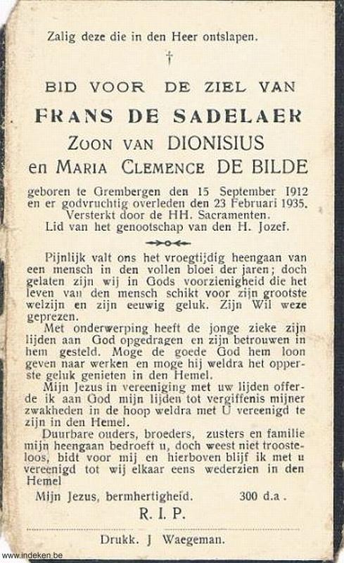 Frans De Sadelaer