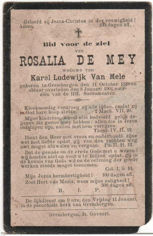 Maria Rosalia De Mey