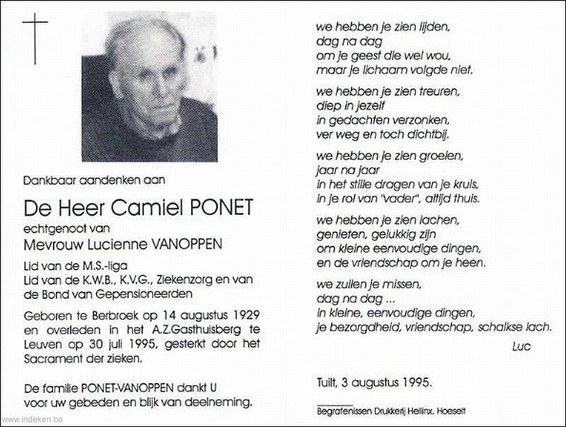 Camiel Ponet