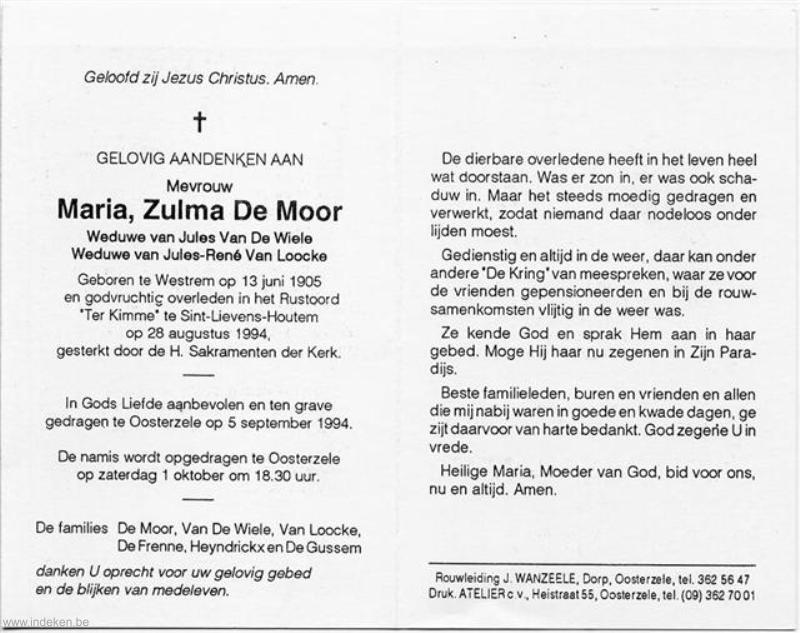 Maria Zulma De Moor