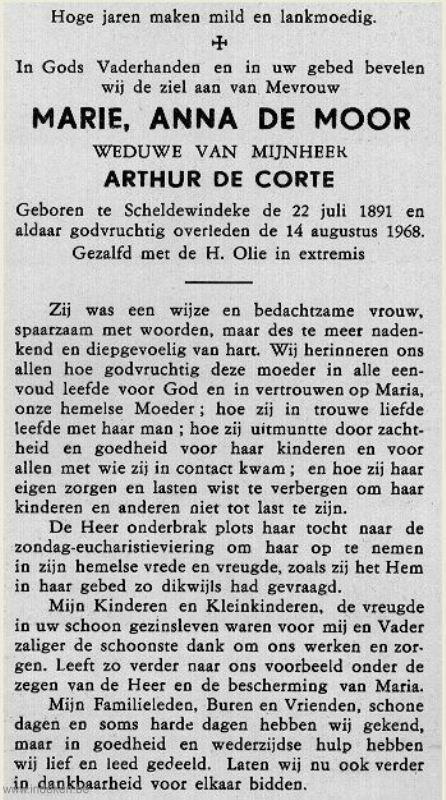 Marie Anna De Moor