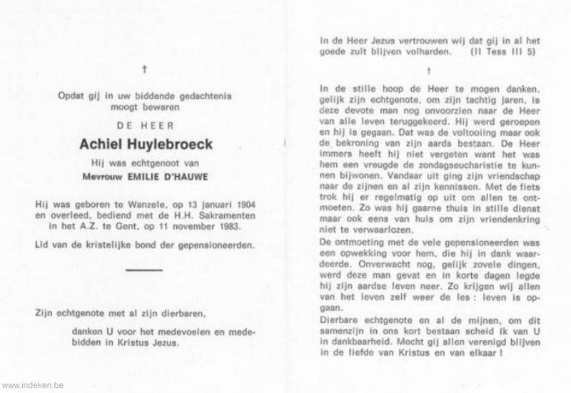Achiel Huylebroeck