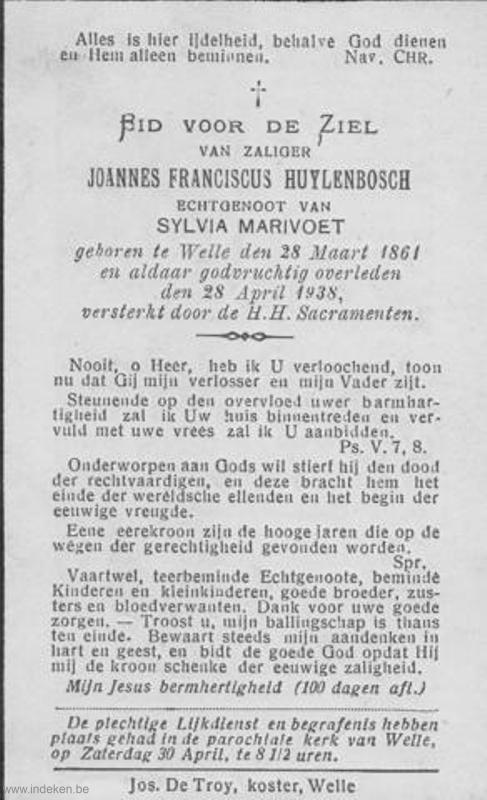 Joannes Franciscus Huylenbosch