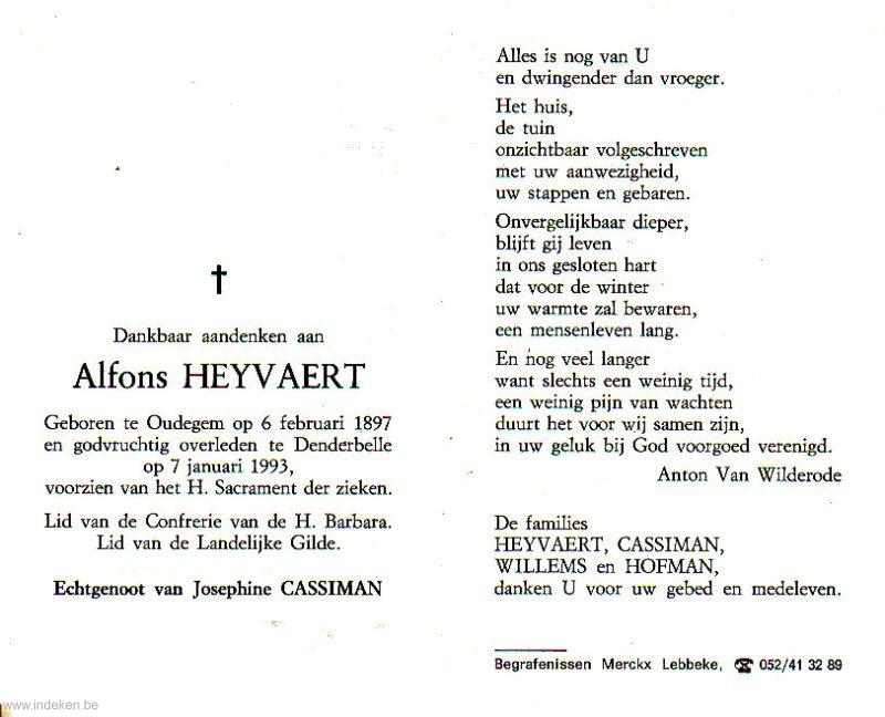 Alphonsus Benedictus Heyvaert
