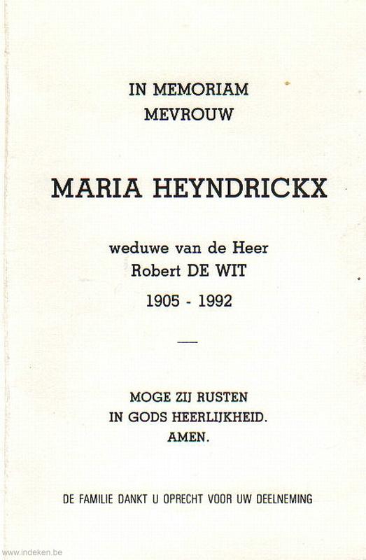Maria Heyndrickx