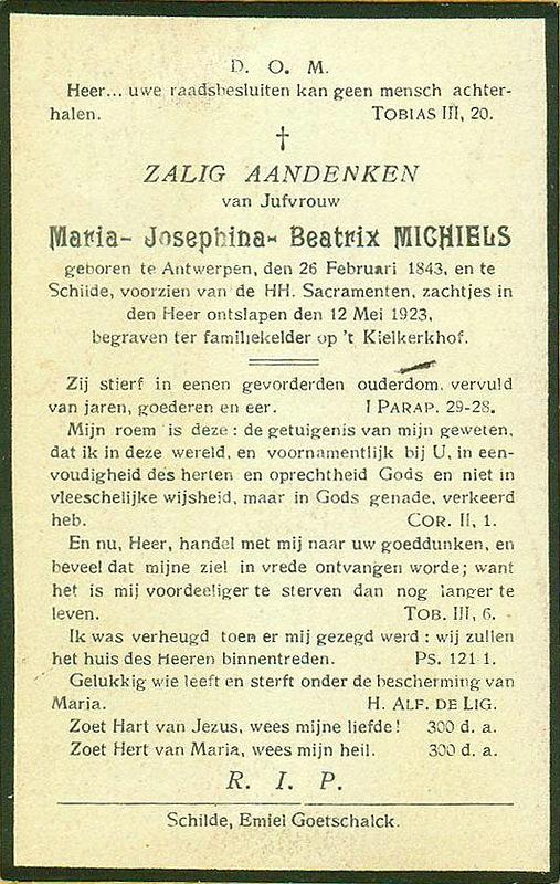 Maria Josephina Beatrix Michiels