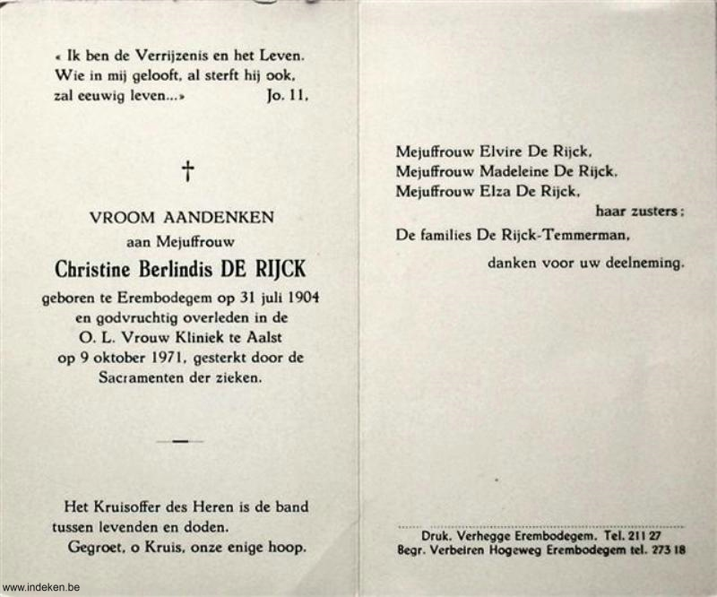 Christine Berlindis De Rijck