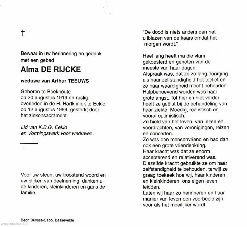 Alma Alice De Rijcke