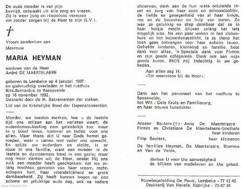 Maria Irma Heyman