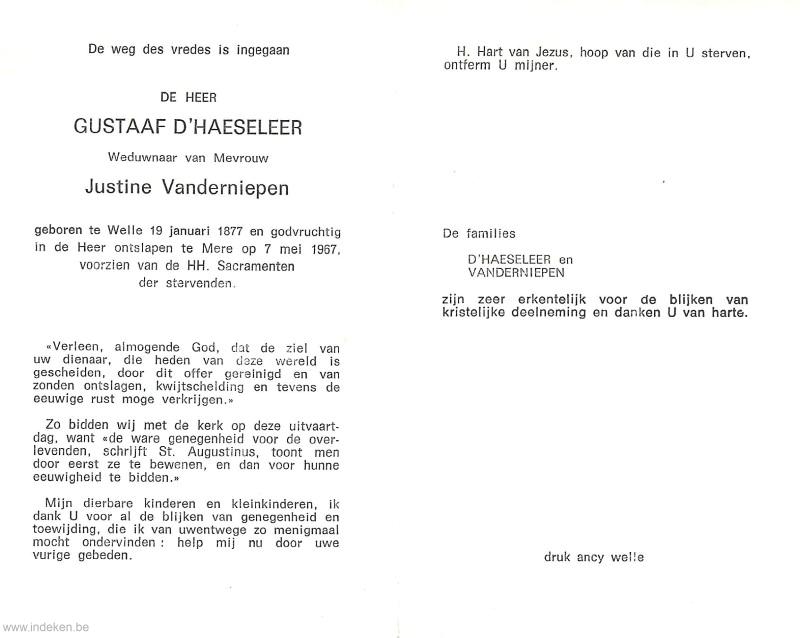 Gustaaf D Haeseleer