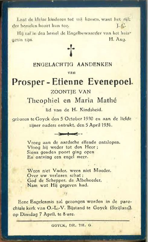 Prosper Etienne Evenepoel