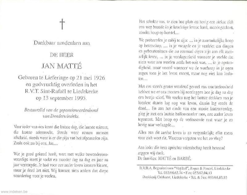 Jan Matté
