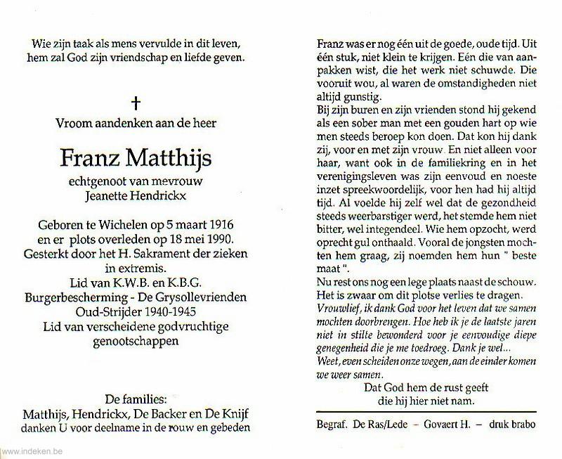 Franz Matthijs